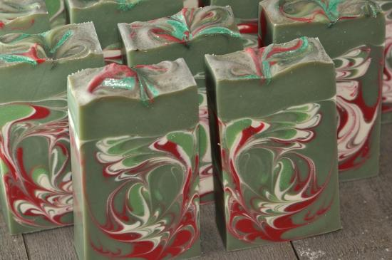 Merry Christmas spa soap Grönlycka