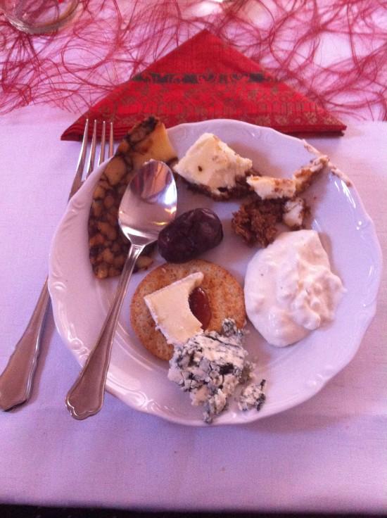 Jullunch på Nääs slott desserten
